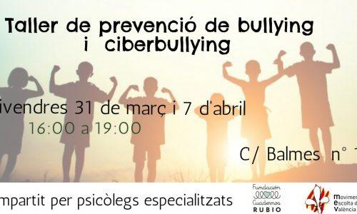 FORMACIÓN🎓  | Taller sobre prevención de bullying i ciberbullying
