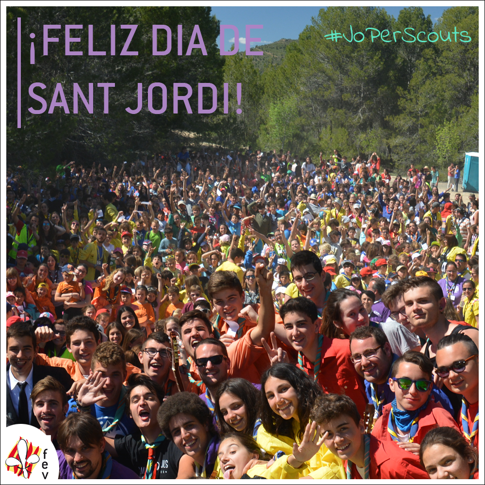 #JoPerScouts – ¡Feliz dia de Sant Jordi!