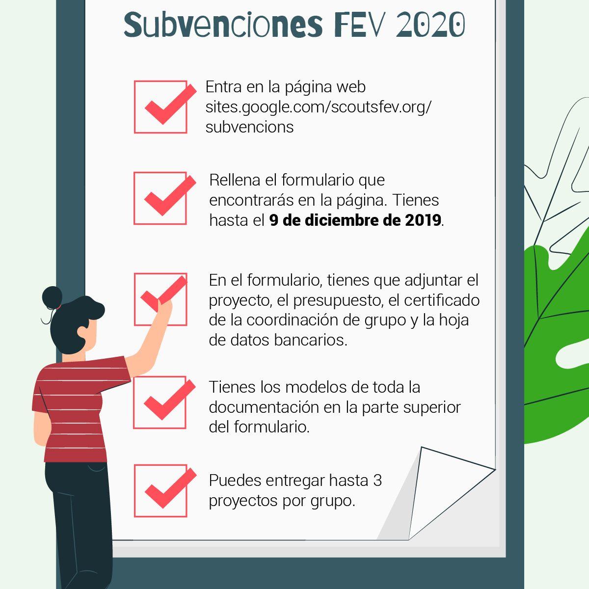 Subvención FEV 2020