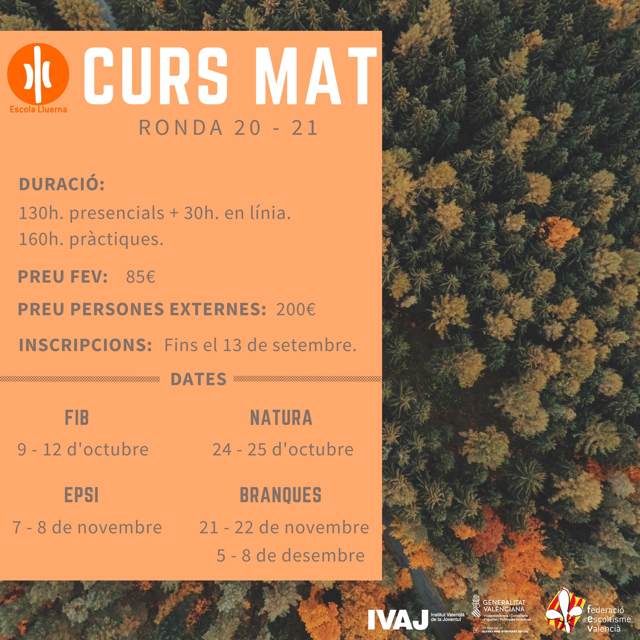 Cartell curs MAT 2020